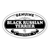 BLACK RUSSIAN TERRIER Oval Bumper Stickers
