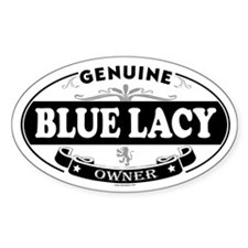 BLUE LACY Oval Bumper Stickers