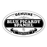 BLUE PICARDY SPANIEL Oval Decal