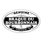 BRAQUE DU BOURBONNAIS Oval Decal