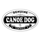 CANOE DOG Oval Decal