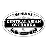 CENTRAL ASIAN OVCHARKA Oval Decal