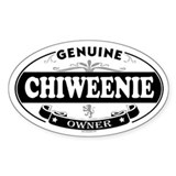 CHIWEENIE Oval Decal