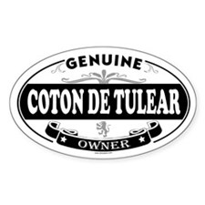 COTON DE TULEAR Oval Decal
