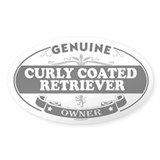 CURLY COATED RETRIEVER Oval Decal