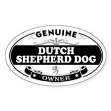 DUTCH SHEPHERD DOG Oval Decal