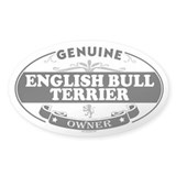 ENGLISH BULL TERRIER Oval Bumper Stickers
