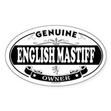 ENGLISH MASTIFF Oval Decal