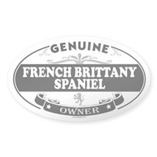 FRENCH BRITTANY SPANIEL Oval Decal
