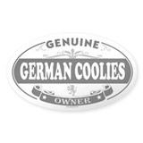GERMAN COOLIES Oval Decal