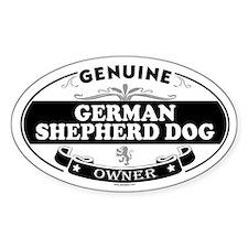GERMAN SHEPHERD DOG Oval Decal