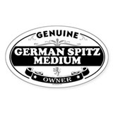 GERMAN SPITZ MEDIUM Oval Decal