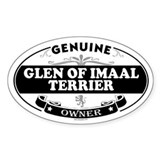 GLEN OF IMAAL TERRIER Oval Decal