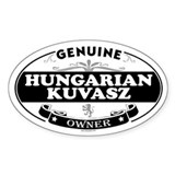 HUNGARIAN KUVASZ Oval Decal