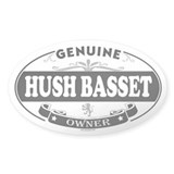 HUSH BASSET Oval Decal