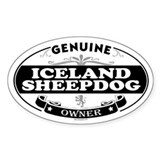 ICELAND SHEEPDOG Oval Decal