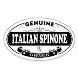 ITALIAN SPINONE Oval Decal