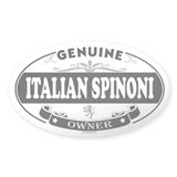 ITALIAN SPINONI Oval Decal