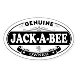 JACK-A-BEE Oval Decal