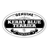 KERRY BLUE TERRIER Oval Decal