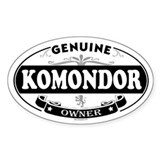 KOMONDOR Oval Bumper Stickers