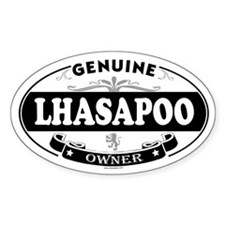 LHASAPOO Oval Decal