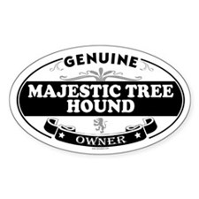 MAJESTIC TREE HOUND Oval Decal