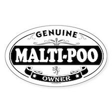MALTI-POO Oval Decal