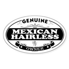 MEXICAN HAIRLESS Oval Decal