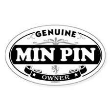 MIN PIN Oval Decal