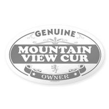MOUNTAIN VIEW CUR Oval Decal