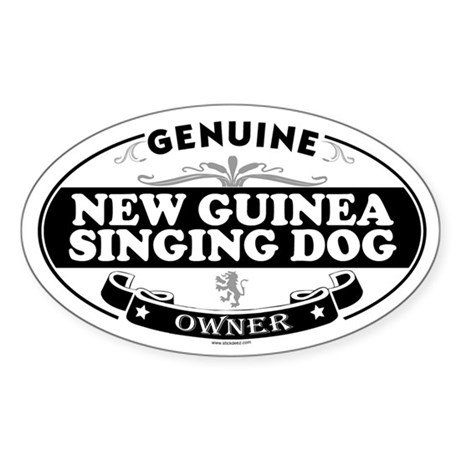NEW GUINEA SINGING DOG Oval Sticker