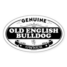 OLD ENGLISH BULLDOG Oval Decal