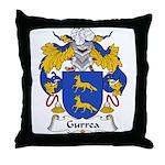 Gurrea Family Crest Throw Pillow