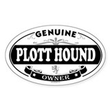 PLOTT HOUND Oval Decal