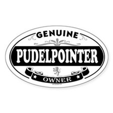 PUDELPOINTER Oval Decal