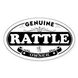 RATTLE Oval Decal
