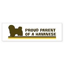 Havanese (proud parent) Bumper Bumper Sticker