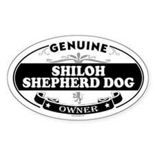 SHILOH SHEPHERD DOG Oval Decal