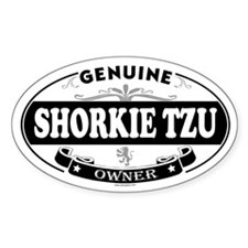 SHORKIE TZU Oval Decal