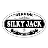 SILKY JACK Oval Decal