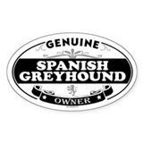 SPANISH GREYHOUND Oval Decal