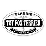 TOY FOX TERRIER Oval Decal