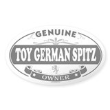TOY GERMAN SPITZ Oval Decal