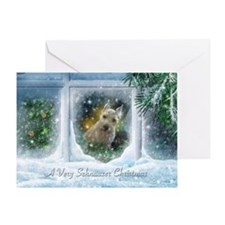 """Schnauzer Christmas"" Greeting Card"