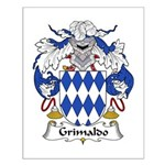 Grimaldo Family Crest Small Poster