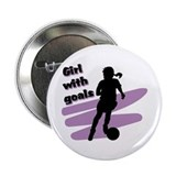 Girl with goals Button