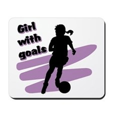 Girl with goals Mousepad