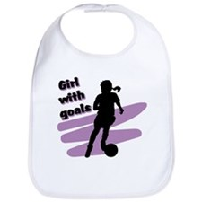 Girl with goals Bib