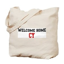 Welcome home CY Tote Bag